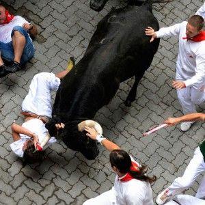 Bataie cu tauri la Pamplona
